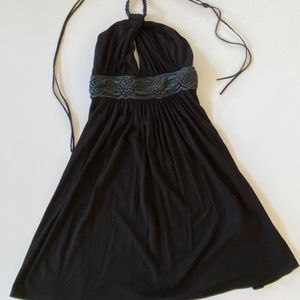SKY Halter with Leather Ties - XS